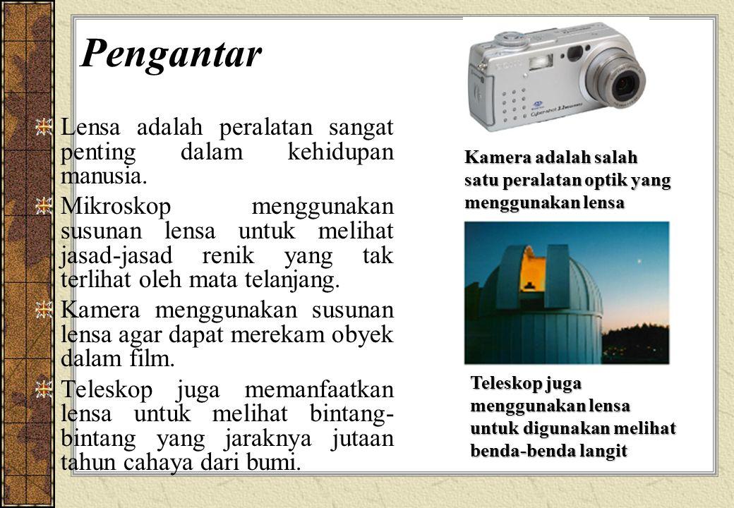 Pengantar Lensa adalah peralatan sangat penting dalam kehidupan manusia.