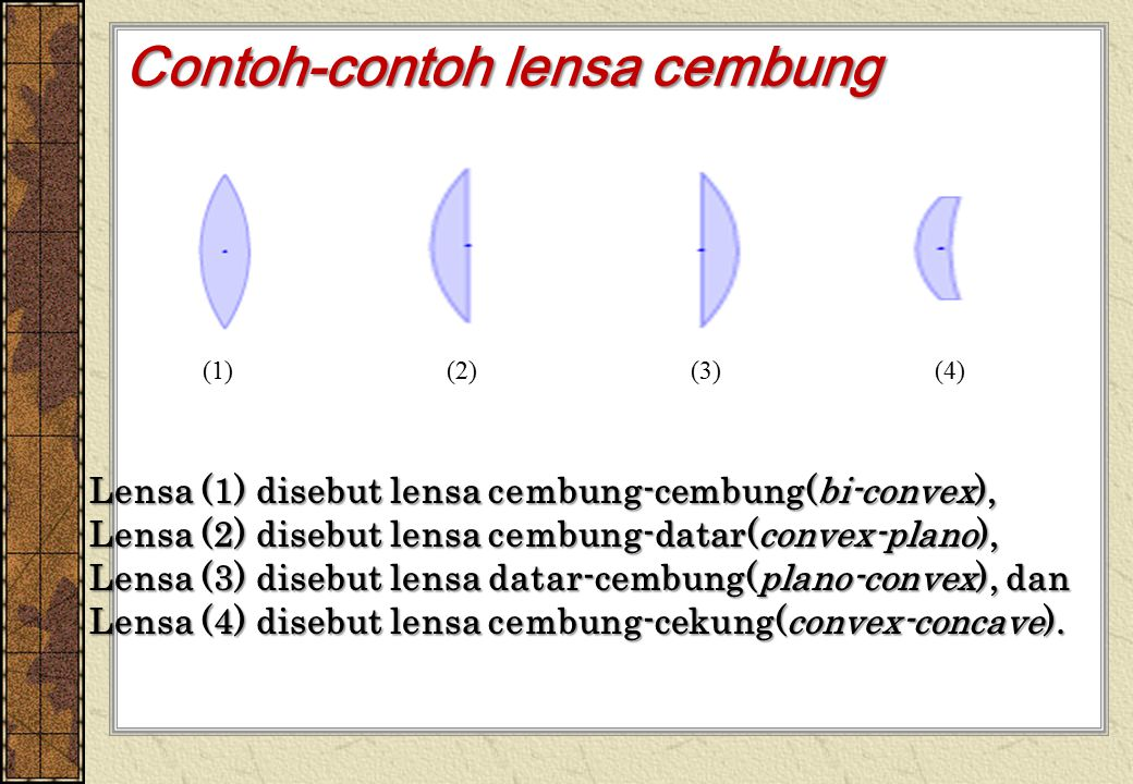 Contoh-contoh lensa cembung