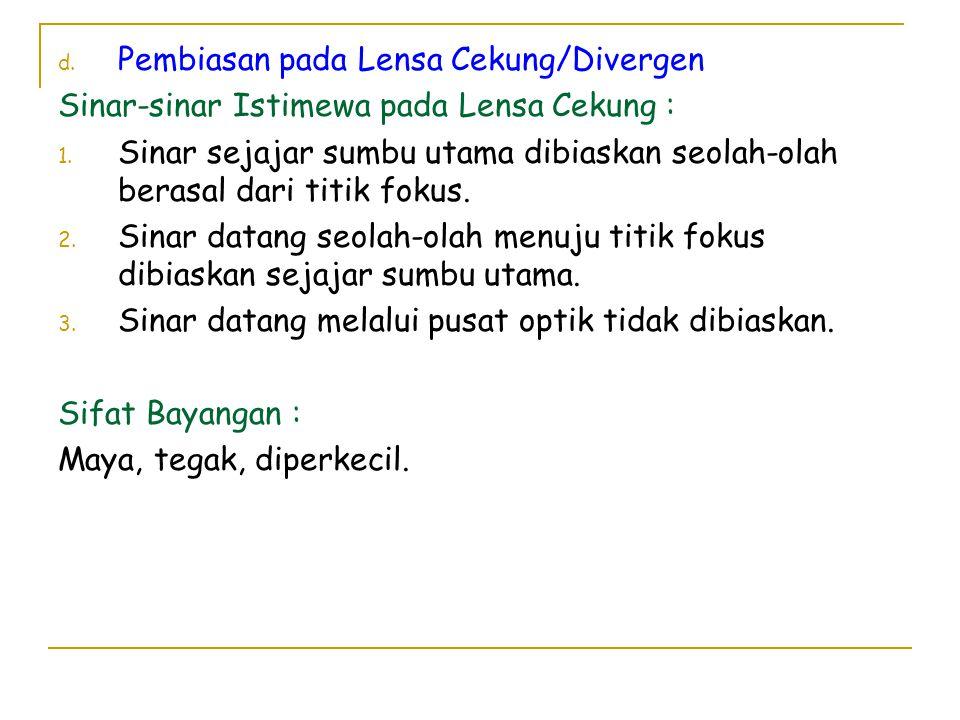 Pembiasan pada Lensa Cekung/Divergen