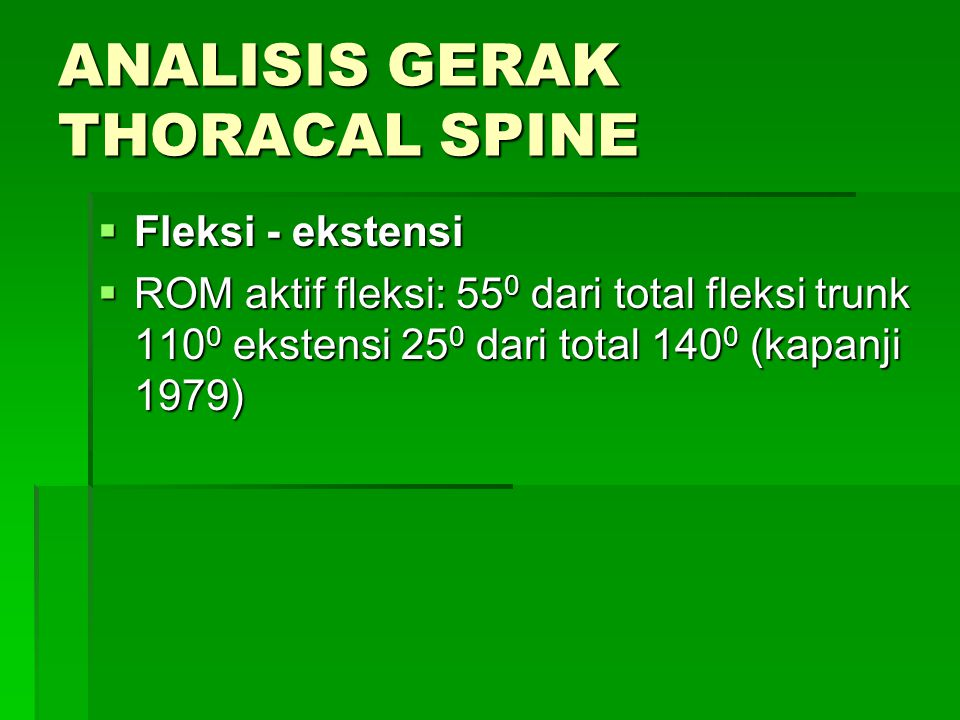 ANALISIS GERAK THORACAL SPINE