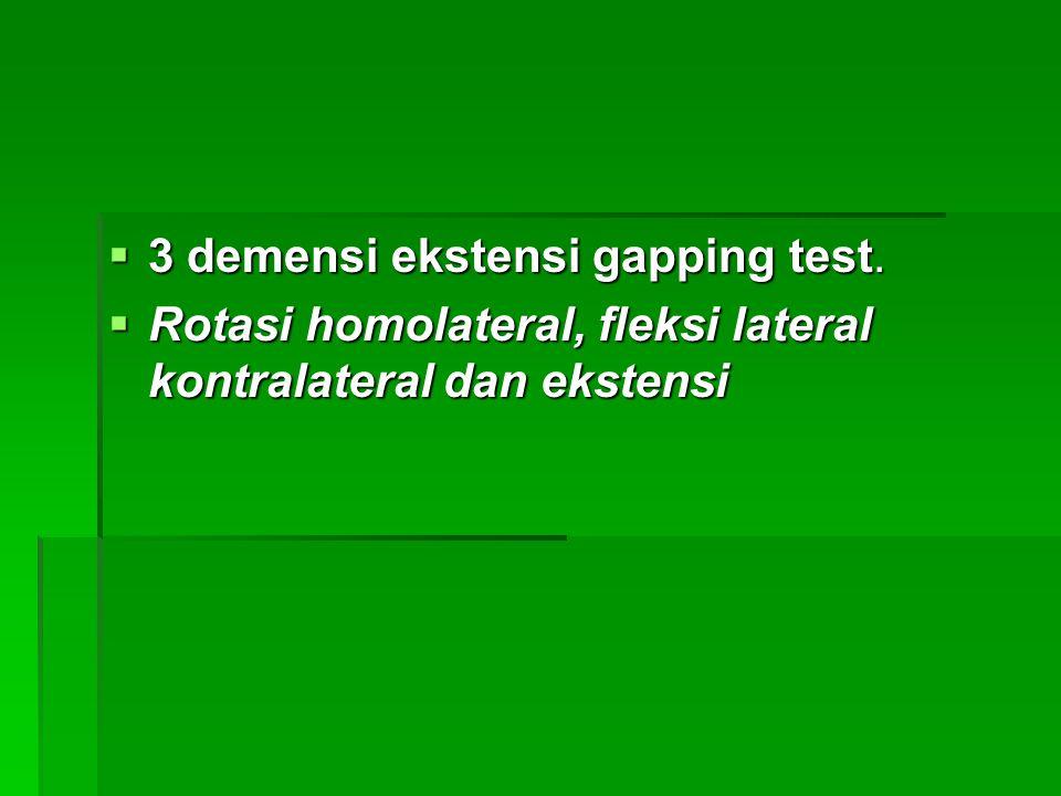 3 demensi ekstensi gapping test.