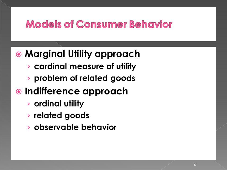 Models of Consumer Behavior