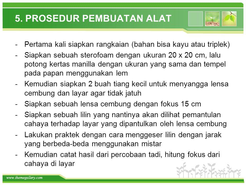 5. PROSEDUR PEMBUATAN ALAT