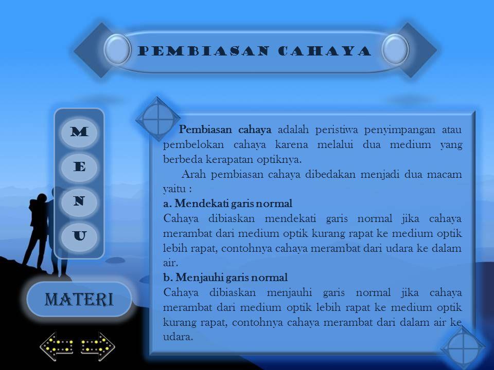 MATERI PEMBIASAN CAHAYA