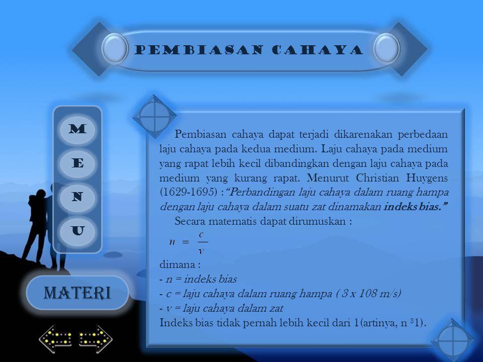 MATERI PEMBIASAN CAHAYA M