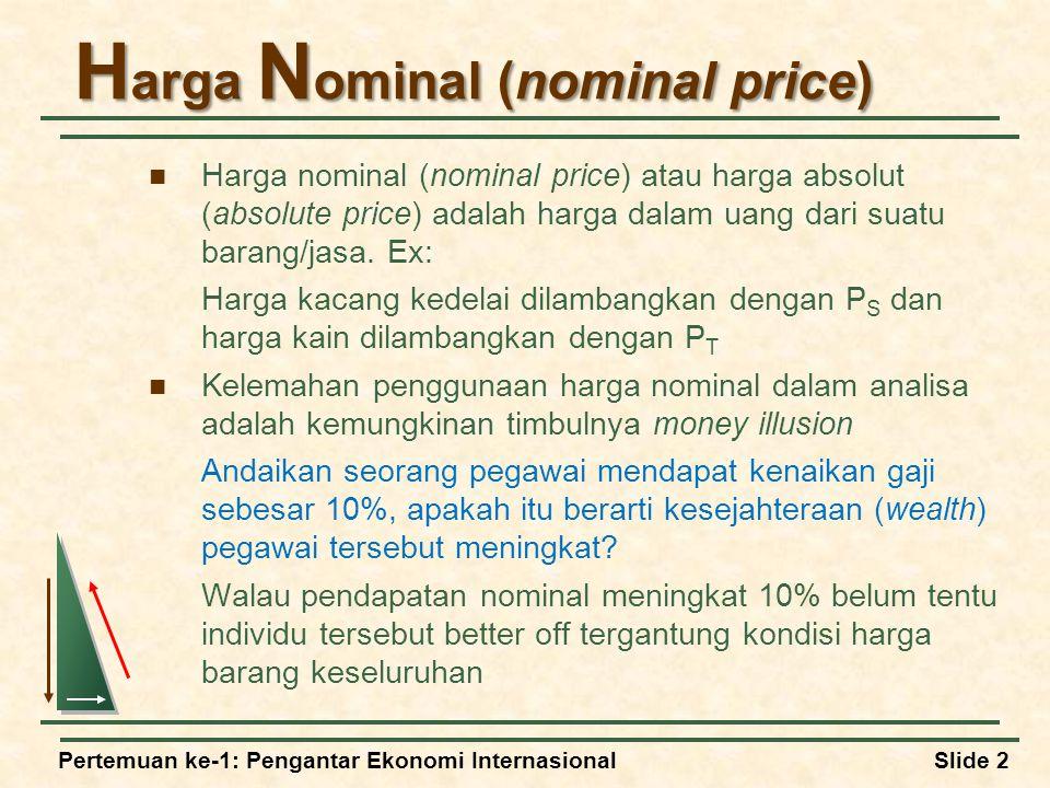 Harga Nominal (nominal price)