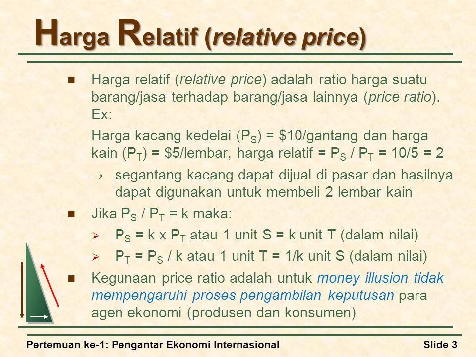 Harga Relatif (relative price)