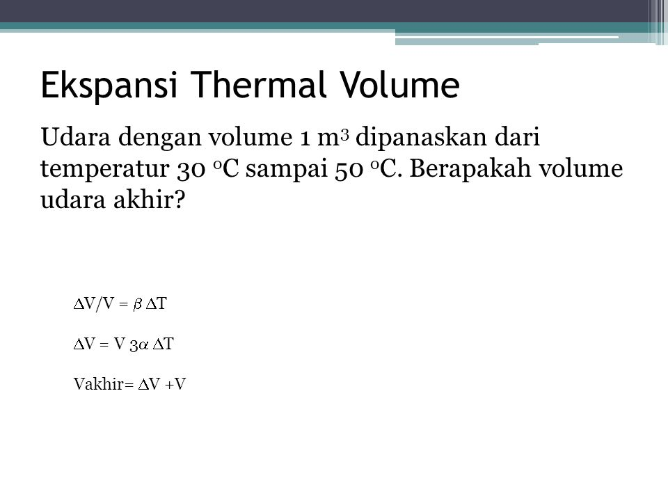 Ekspansi Thermal Volume