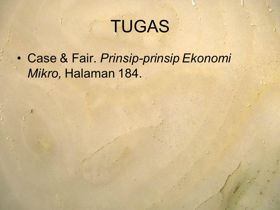 TUGAS Case & Fair. Prinsip-prinsip Ekonomi Mikro, Halaman 184.