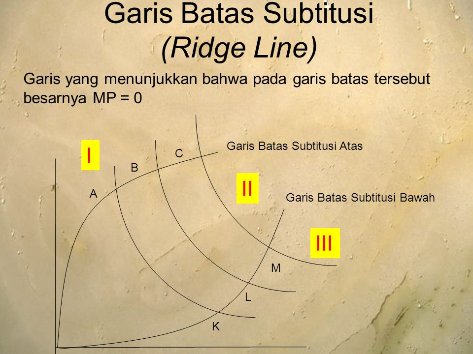 Garis Batas Subtitusi (Ridge Line)