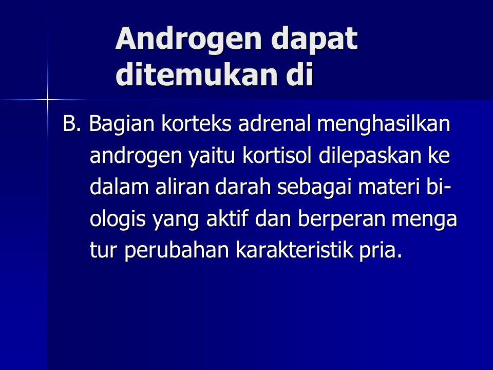 Androgen dapat ditemukan di