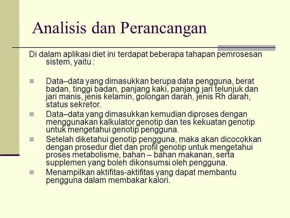 Analisis dan Perancangan