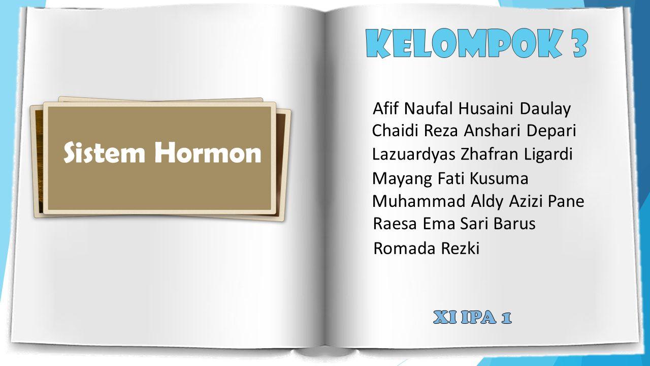 Kelompok 3 Sistem Hormon Sistem Hormon Afif Naufal Husaini Daulay