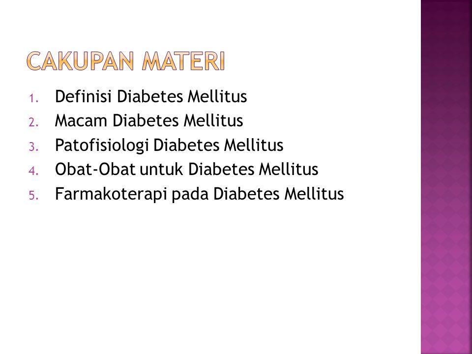 Cakupan Materi Definisi Diabetes Mellitus Macam Diabetes Mellitus