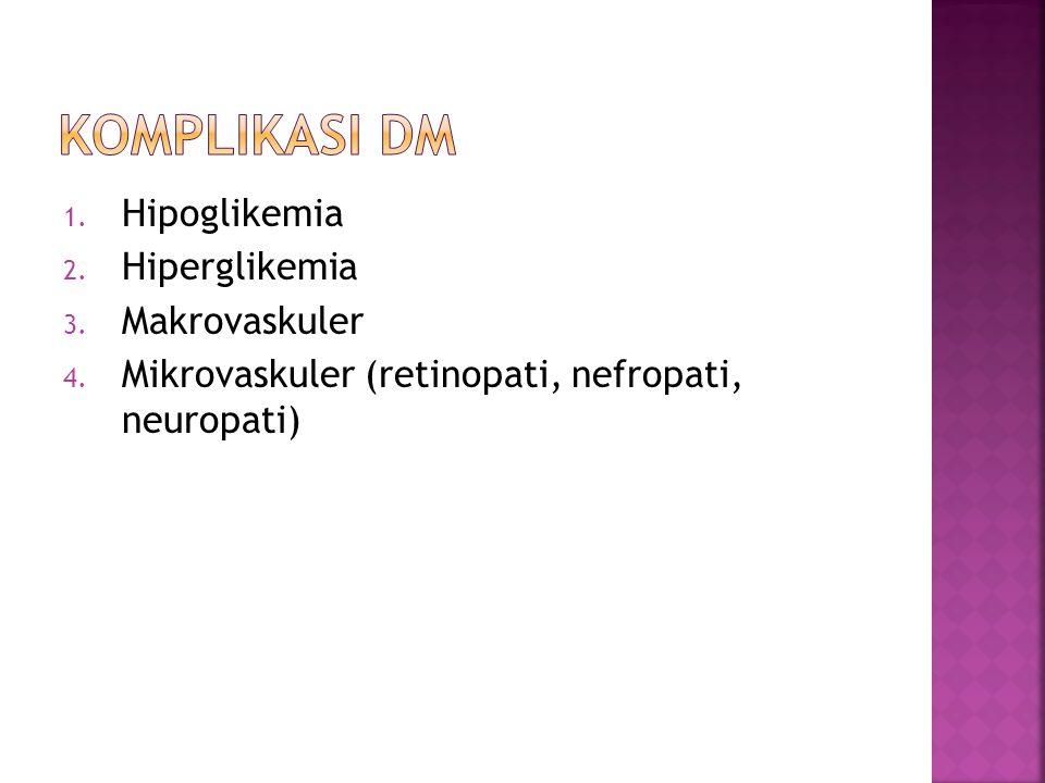 Komplikasi dm Hipoglikemia Hiperglikemia Makrovaskuler