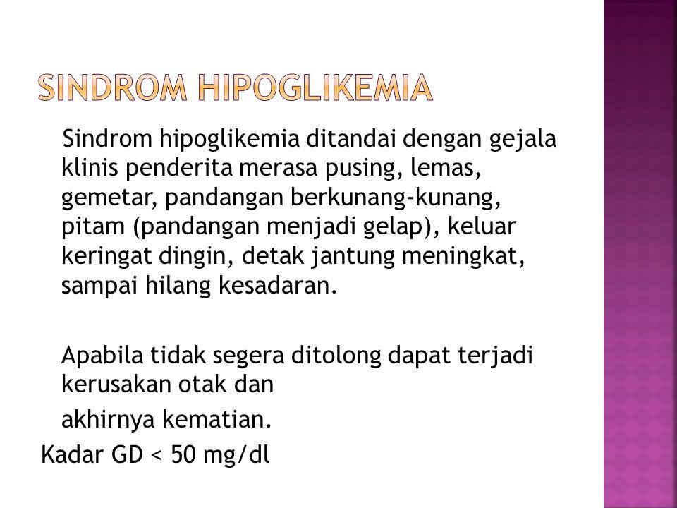 Sindrom hipoglikemia