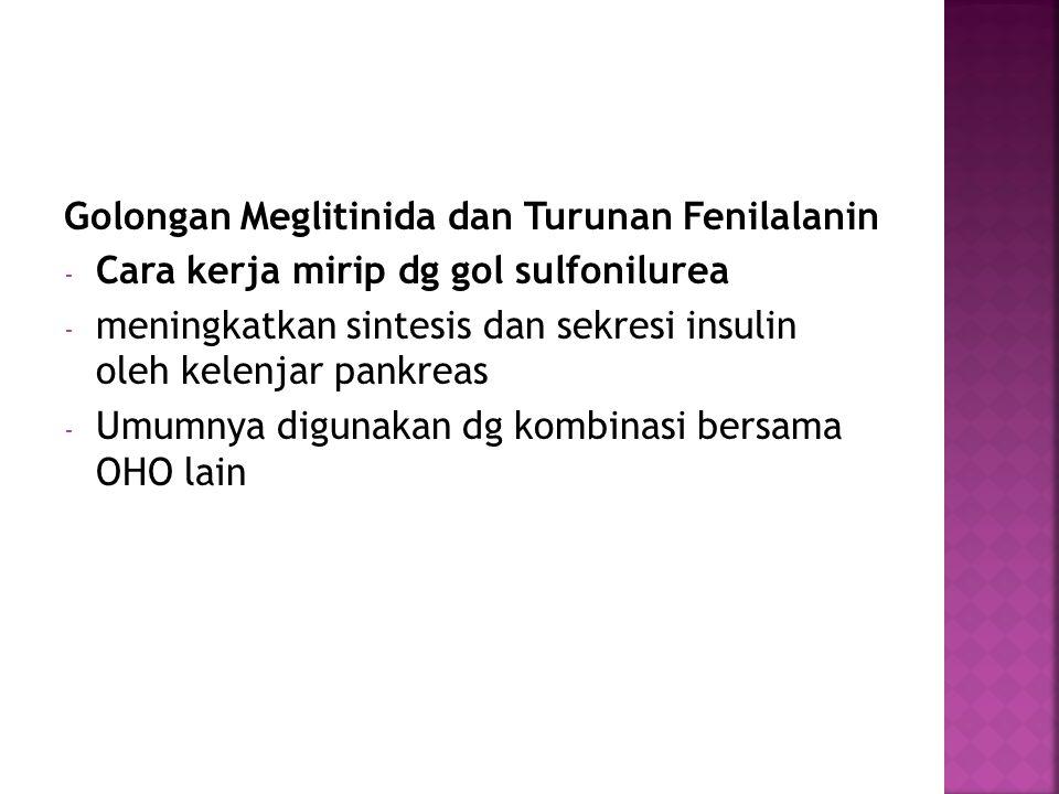 Golongan Meglitinida dan Turunan Fenilalanin