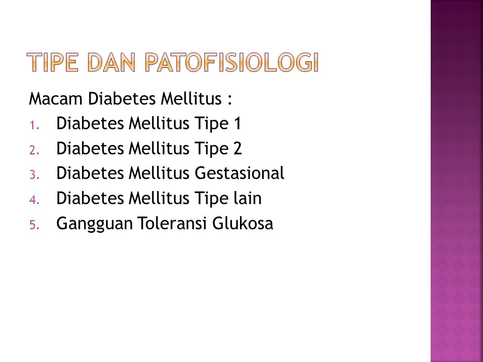 Tipe dan patofisiologi