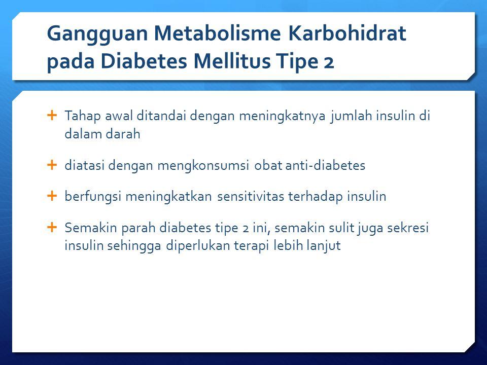 Gangguan Metabolisme Karbohidrat pada Diabetes Mellitus Tipe 2