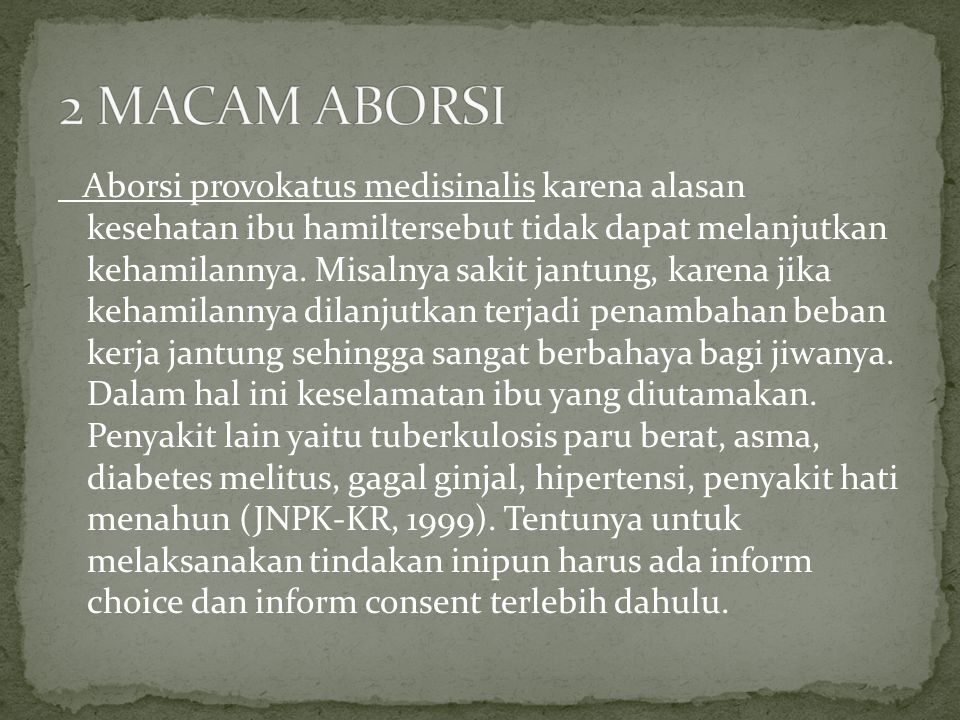 2 MACAM ABORSI