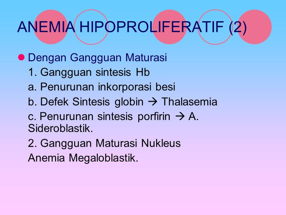 ANEMIA HIPOPROLIFERATIF (2)