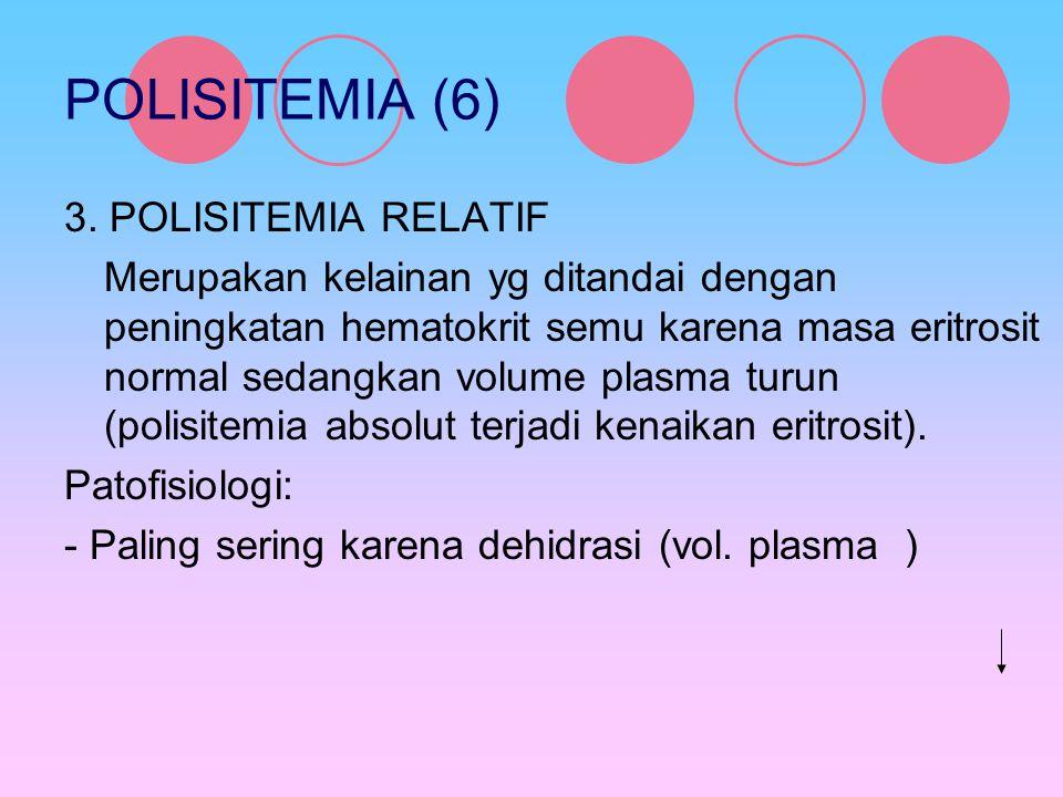POLISITEMIA (6) 3. POLISITEMIA RELATIF