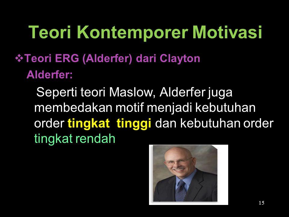 Teori Kontemporer Motivasi