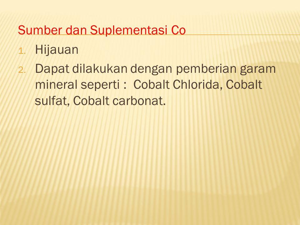 Sumber dan Suplementasi Co