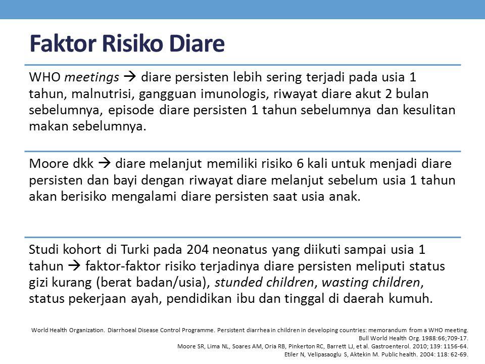 Faktor Risiko Diare
