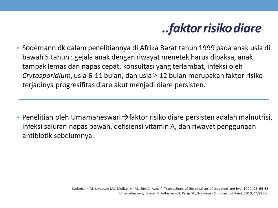 ..faktor risiko diare
