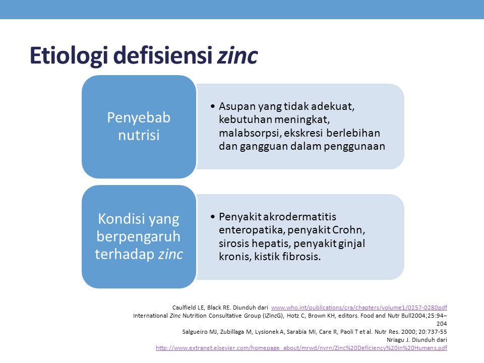 Etiologi defisiensi zinc