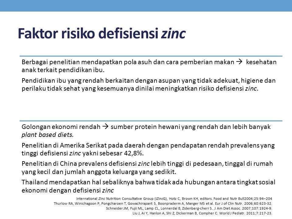 Faktor risiko defisiensi zinc