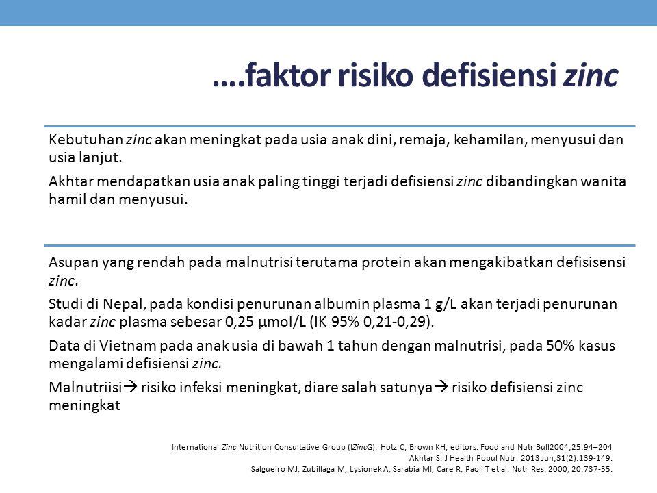 ….faktor risiko defisiensi zinc