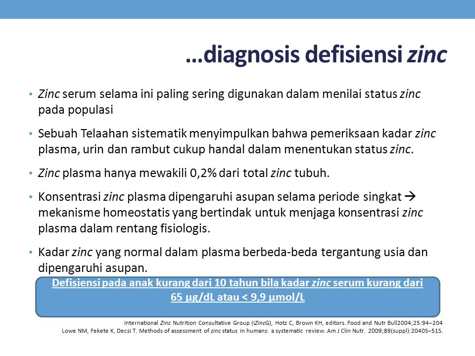 …diagnosis defisiensi zinc