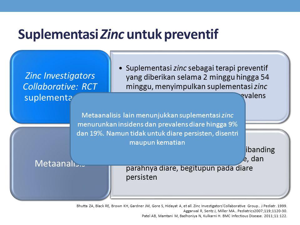 Suplementasi Zinc untuk preventif