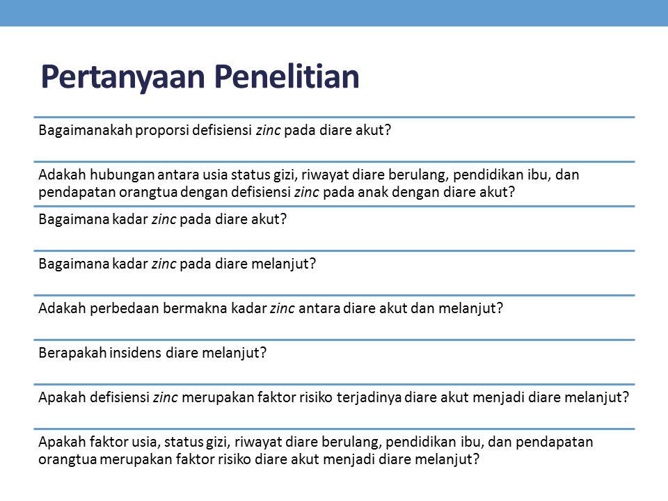 Pertanyaan Penelitian