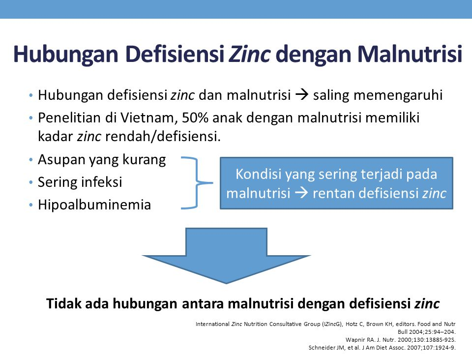Hubungan Defisiensi Zinc dengan Malnutrisi