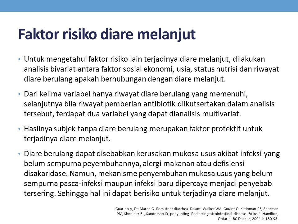 Faktor risiko diare melanjut