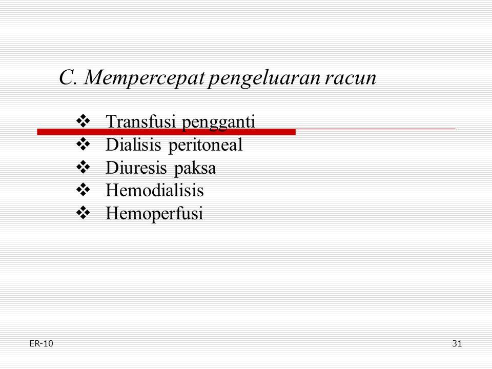 C. Mempercepat pengeluaran racun