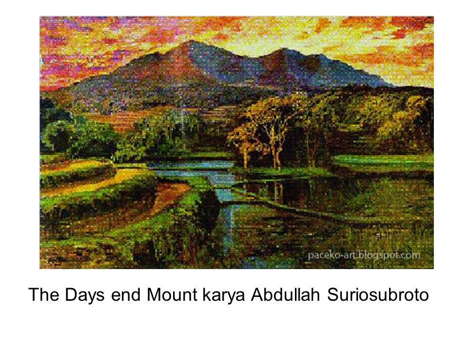 The Days end Mount karya Abdullah Suriosubroto