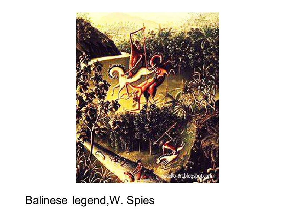 Balinese legend,W. Spies