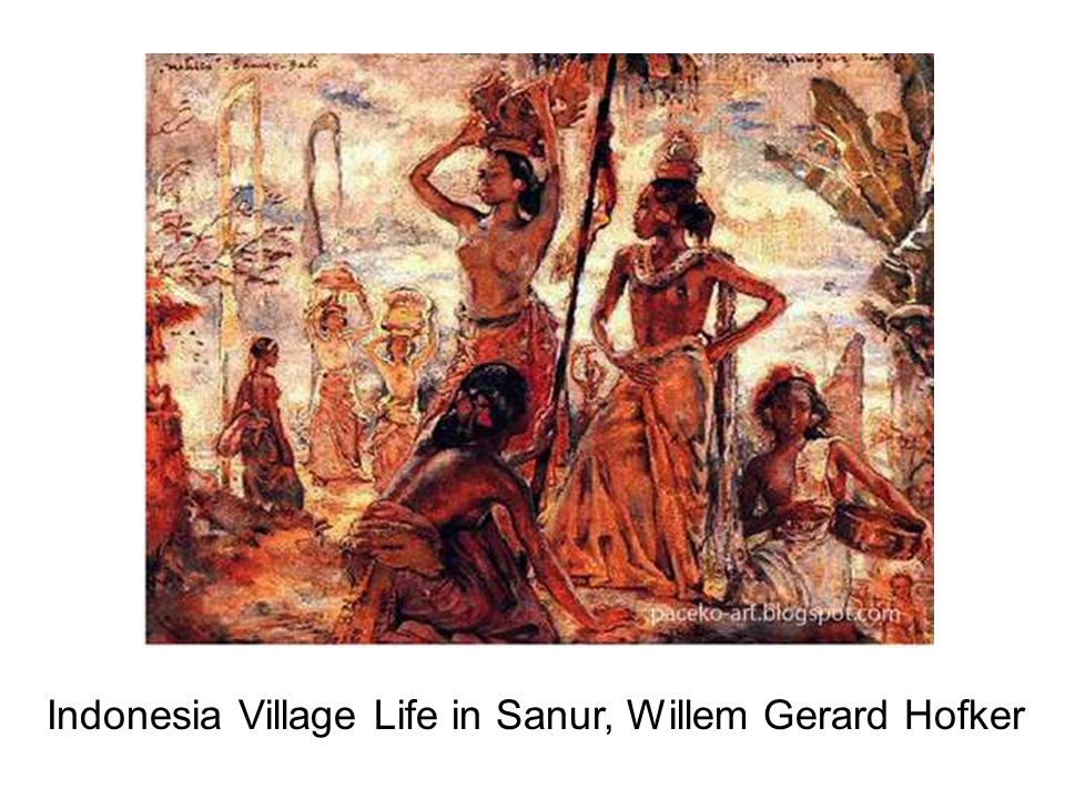 Indonesia Village Life in Sanur, Willem Gerard Hofker