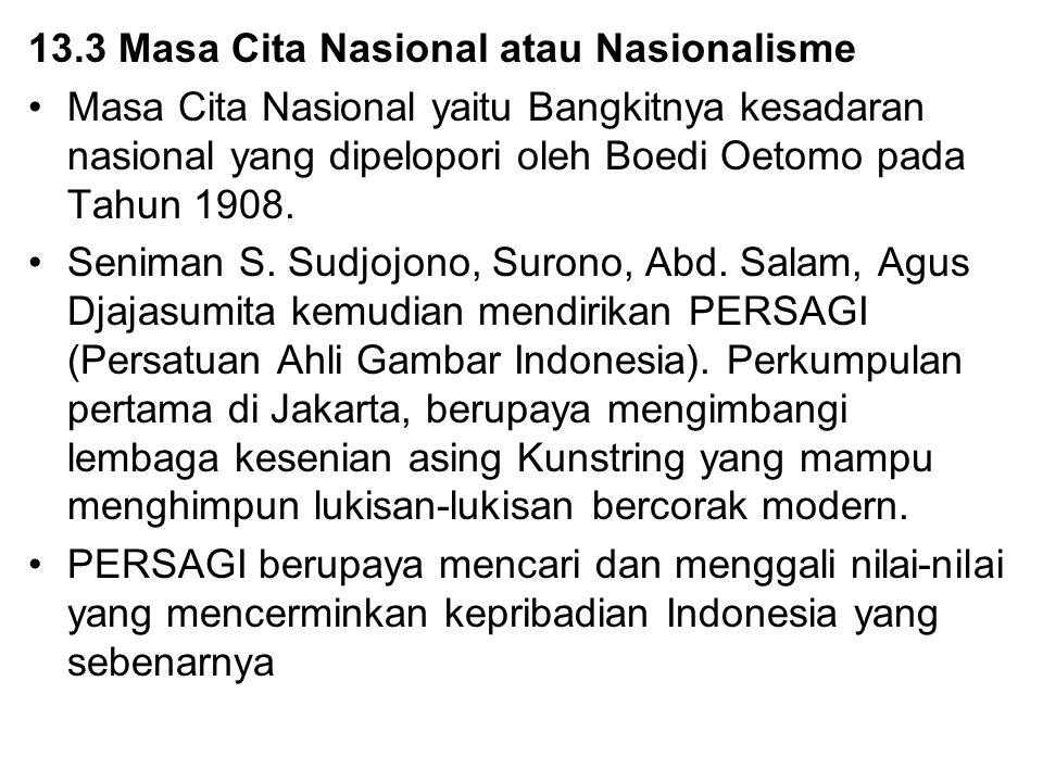 13.3 Masa Cita Nasional atau Nasionalisme