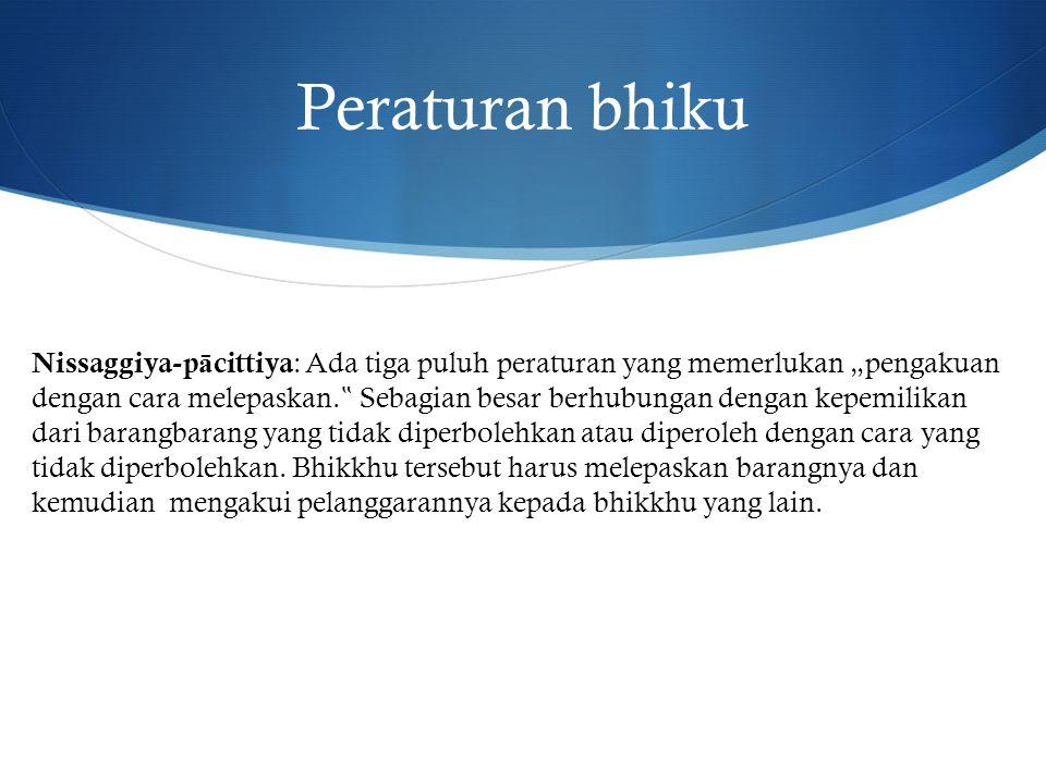 Peraturan bhiku