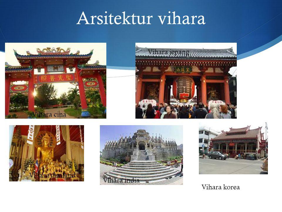 Arsitektur vihara Vihara jepang Vihara cina Vihara thailand