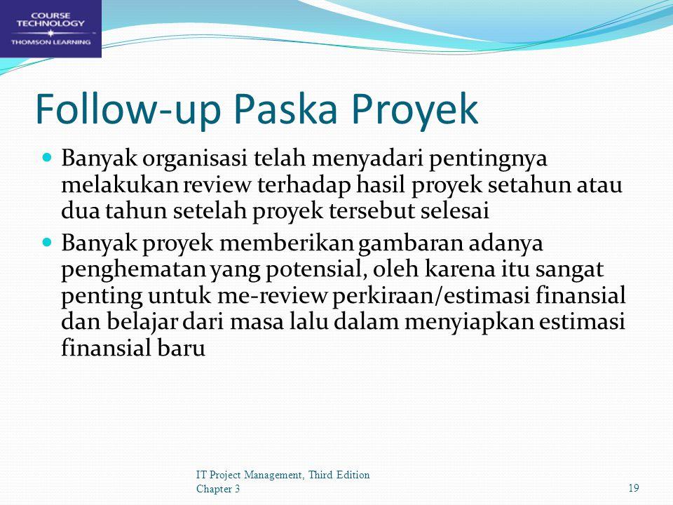 Follow-up Paska Proyek
