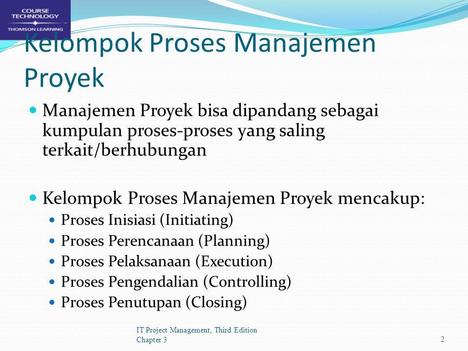 Kelompok Proses Manajemen Proyek