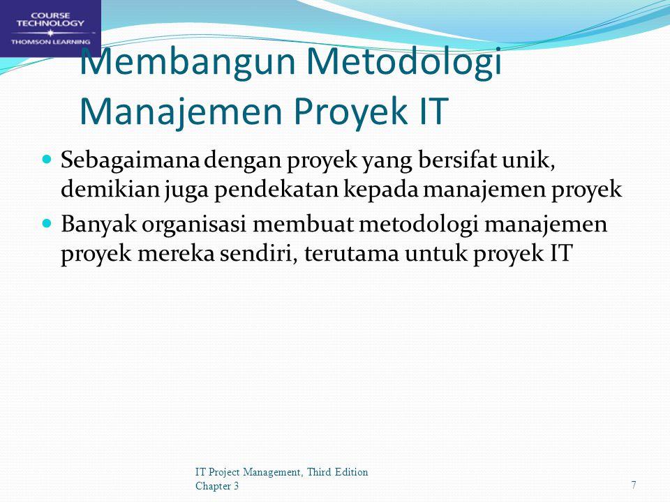 Membangun Metodologi Manajemen Proyek IT