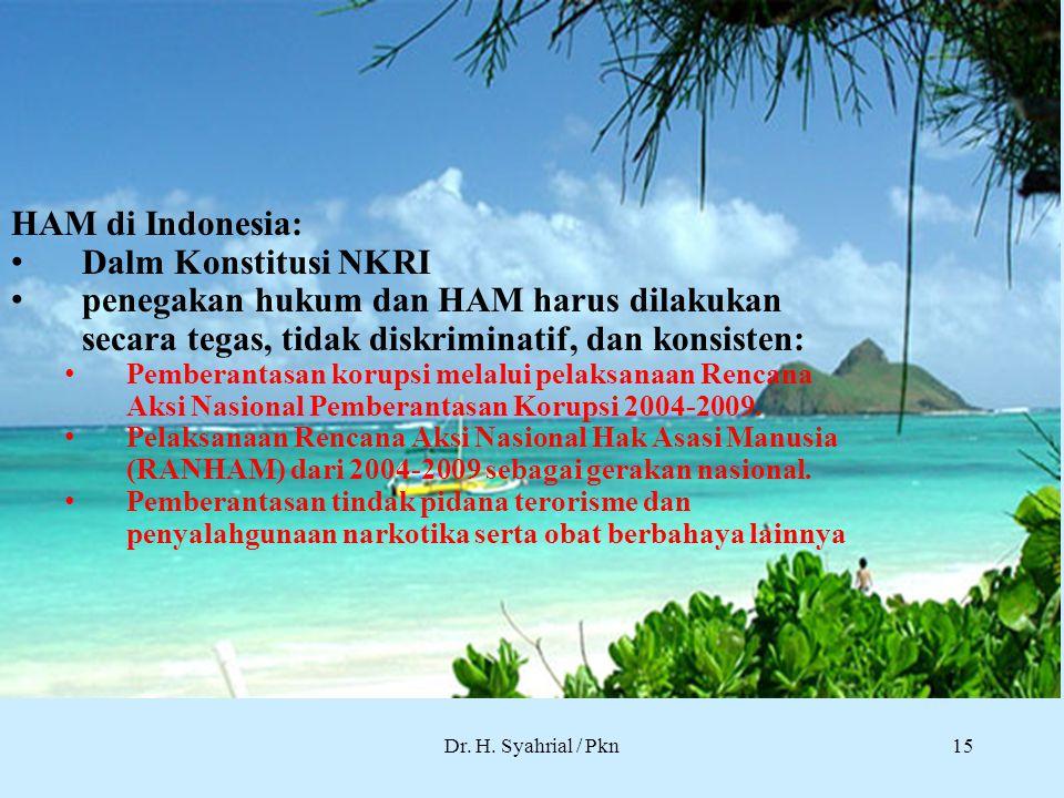 HAM di Indonesia: Dalm Konstitusi NKRI