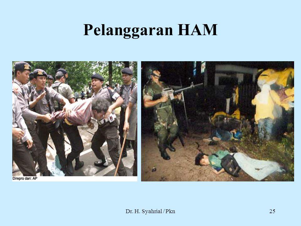Pelanggaran HAM Dr. H. Syahrial / Pkn